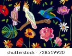 colorful birds in the tropical... | Shutterstock .eps vector #728519920