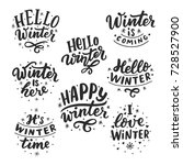 hand drawn lettering set with... | Shutterstock .eps vector #728527900