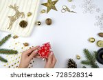 christmas and new year gifts... | Shutterstock . vector #728528314
