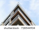 modern apartment buildings... | Shutterstock . vector #728544934