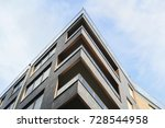 modern apartment buildings... | Shutterstock . vector #728544958
