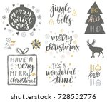christmas and new year 2018... | Shutterstock .eps vector #728552776