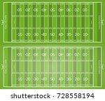 football field. set of american ... | Shutterstock .eps vector #728558194