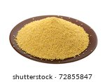 Millet In A Plate On A White...