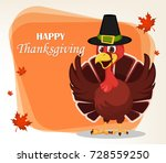thanksgiving greeting card with ... | Shutterstock . vector #728559250
