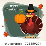 thanksgiving greeting card with ... | Shutterstock . vector #728559274