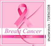 breast cancer. silhouette of... | Shutterstock .eps vector #728561338
