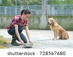 animal shelter volunteer... | Shutterstock . vector #728567680