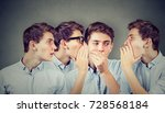 three young men whispering each ... | Shutterstock . vector #728568184