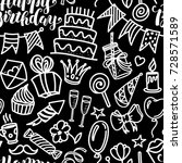 happy birthday lettering and... | Shutterstock . vector #728571589