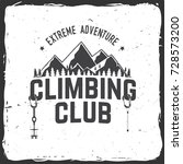 climbing club badge. vector.... | Shutterstock .eps vector #728573200