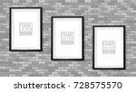 frame on the wall. photoframe... | Shutterstock .eps vector #728575570