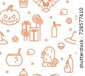 halloween. festive seamless... | Shutterstock .eps vector #728577610