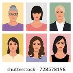 set of female avatars  female... | Shutterstock .eps vector #728578198