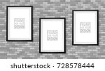 frame on the wall. photoframe...   Shutterstock .eps vector #728578444