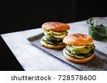 big burgers green goddess...   Shutterstock . vector #728578600
