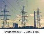 power line technology voltage...   Shutterstock . vector #728581483