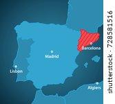 close up map of iberian... | Shutterstock .eps vector #728581516