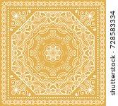 decorative abstract mandala... | Shutterstock .eps vector #728583334