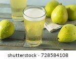sweet organic pint of hard pear ... | Shutterstock . vector #728584108
