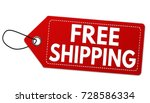 free shipping red label or... | Shutterstock .eps vector #728586334