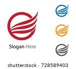 wing logo template | Shutterstock .eps vector #728589403
