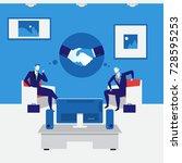 illustration of business people ... | Shutterstock . vector #728595253