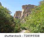 canyon pinnacles | Shutterstock . vector #728595508