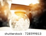 education in global  graduation ... | Shutterstock . vector #728599813