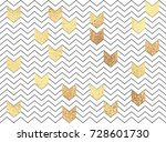 vector geometric zig zag... | Shutterstock .eps vector #728601730