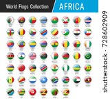 flags of africa  inside round... | Shutterstock .eps vector #728602909