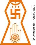 vector symbol of jainism... | Shutterstock .eps vector #728604073