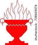 vector symbol of zoroastrianism ... | Shutterstock .eps vector #728604076