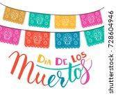 dia de los muertos  mexican day ... | Shutterstock .eps vector #728604946