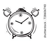 alarm clock doodle    Shutterstock .eps vector #728606740