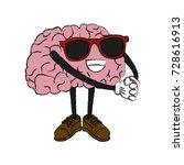 cute brain cartoon | Shutterstock .eps vector #728616913