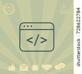 code editor icon | Shutterstock .eps vector #728622784