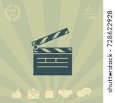 clapperboard icon | Shutterstock .eps vector #728622928
