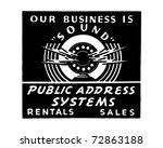 public address system   retro... | Shutterstock .eps vector #72863188