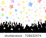 a crowd of people. vector...   Shutterstock .eps vector #728632474