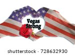 las vegas strong with hand in... | Shutterstock . vector #728632930