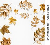 autumn composition. frame made...   Shutterstock . vector #728634826