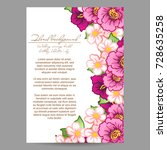 vintage delicate invitation... | Shutterstock . vector #728635258
