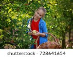 kids picking fresh fruits and... | Shutterstock . vector #728641654