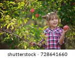 kids picking fresh fruits and... | Shutterstock . vector #728641660