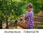 kids picking fresh fruits and... | Shutterstock . vector #728641678