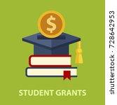student grants flat concept....   Shutterstock .eps vector #728642953