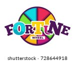 bright fortune wheel made of... | Shutterstock .eps vector #728644918