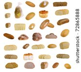 bread costing on a white... | Shutterstock . vector #72865888