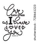hand lettering love each other... | Shutterstock .eps vector #728661223